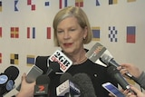 Carnival Australia's Ann Sherry at a press conference