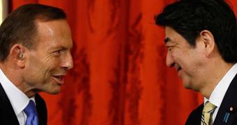 Tony Abbott and Shinzo Abe Custom