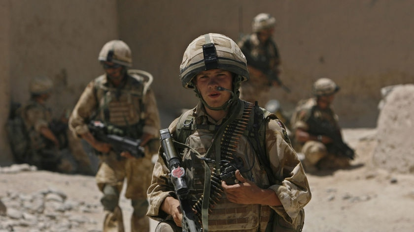War without victory? British soldiers patrol a street in Helmand, Afghanistan