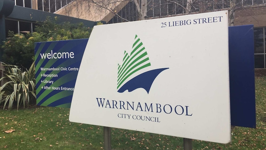 Warrnambool City Council offices and sign