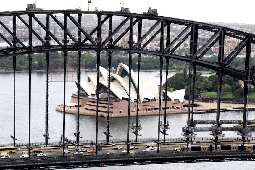 Security has been tightened around the Sydney Harbour Bridge and Opera House