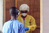 Health workers - like this one from the Liberian capital Monrovia - form the front line in treating those infected with Ebola.
