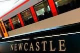 Newcastle train station, heavy rail line generic