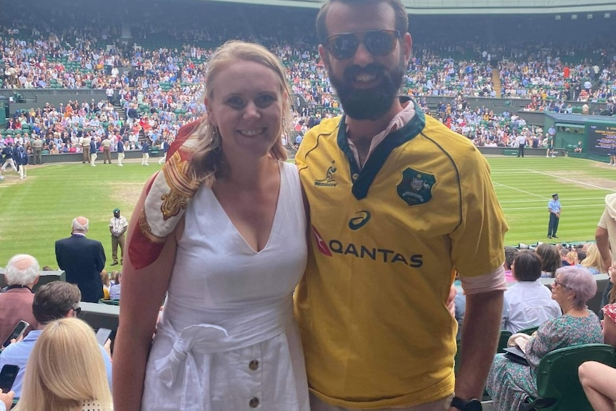 The couple said there were a handful of Aussies in the stands.