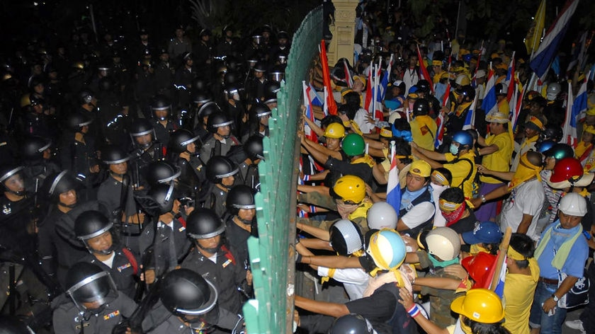 'Won't back down': Thai protesters.