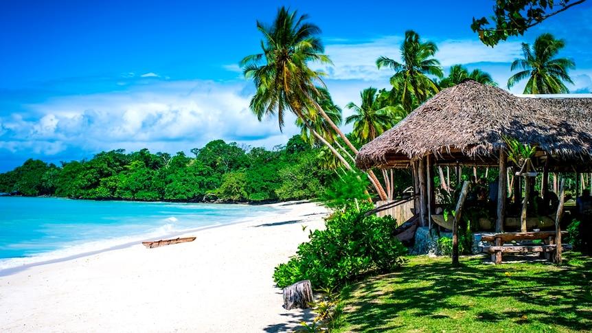 A villa on a pristine beach in Vanuatu.