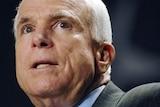 A close up photo of John McCain.