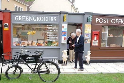 Streetscape in the De Hogeweyk dementia village