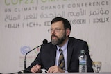 US climate envoy Jonathan Pershing speaks at the Climate Conference in Marrakech, Morocco.