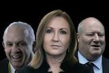 "Senator John ""Wacka"" Williams, Adele Ferguson and Jeff Morris"