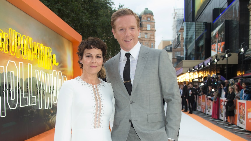 Helen McCrory and Damian Lewis at the premiere of Once Upon a Time in Hollywood