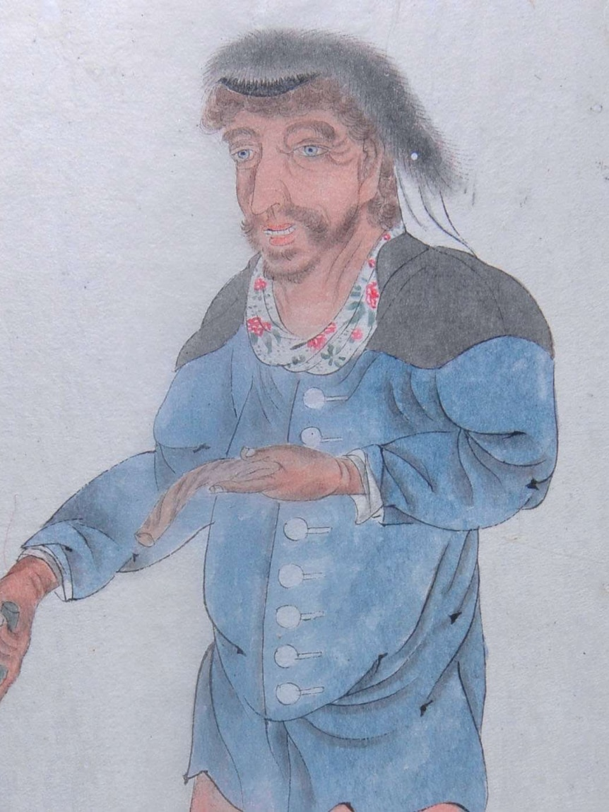 A drawing believed to depict William Swallow.