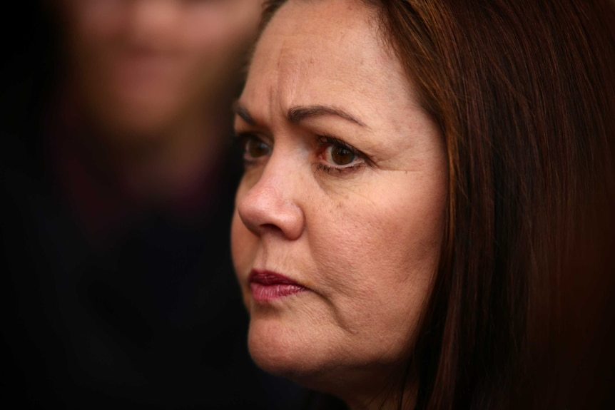 Close up of WA Opposition Leader Liza Harvey. Her expression is serious.