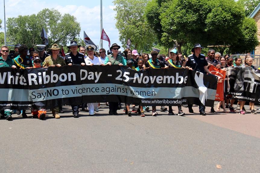 White Ribbon Day march in Darwin