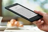 A Kindle ebook reader