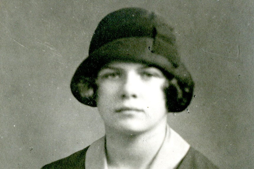 Black and white photo of illustrator Mary Shepard.