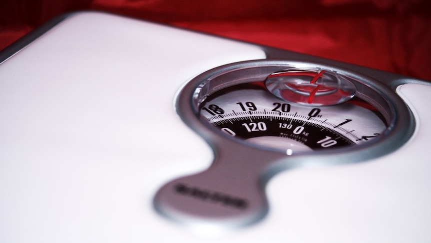 A set of weight scales.