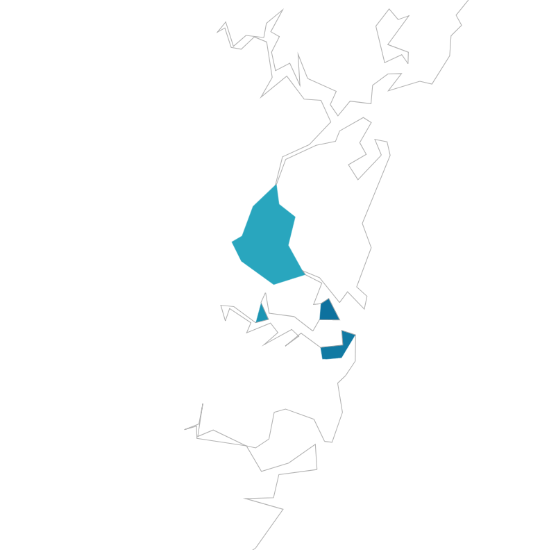 Map showing four more top LGAs around Sydney.