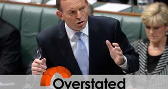 Tony Abbott custom for fact check.