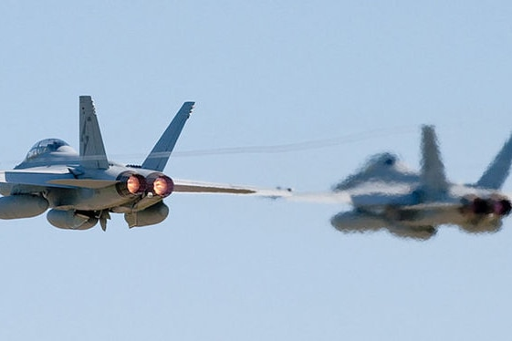Two F/A - 18F Super Hornets