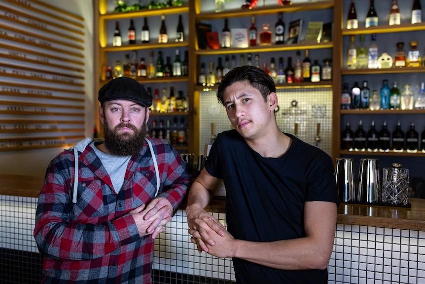 Aiden Beiers and Ryan Lane, bar owners in Fortitude Valley