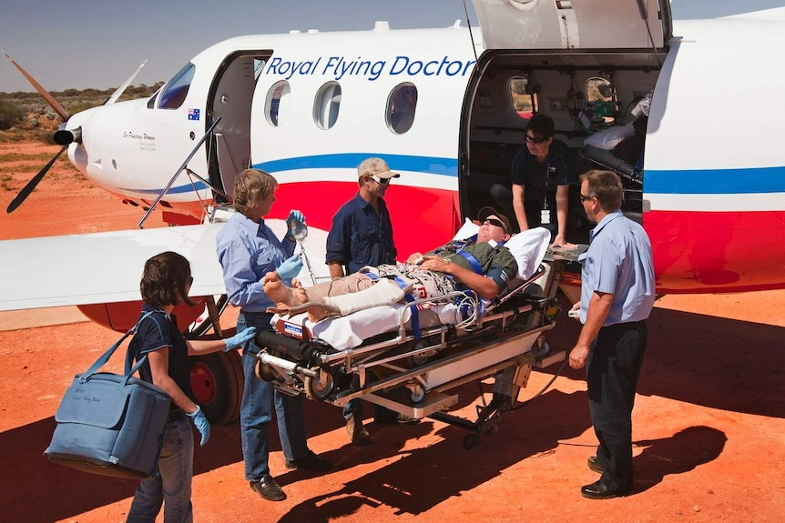 The RFDS helps transport people from the bush