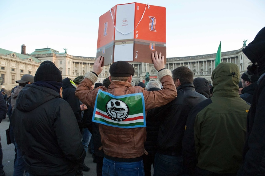A protester against the regime Chechen dictator Ramzan Kadyrov