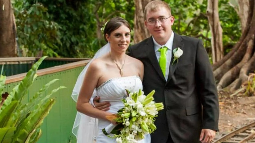 Brian Earl Johnston and Kelly Wilkinson on their wedding day.