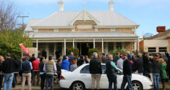 A house auction in Norwood.