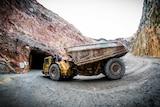 Haul truck in mine