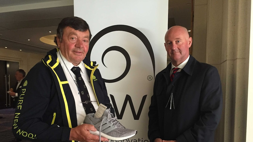 AWI's chairman Wal Merriman (left) and CEO Stuart McCullough (right)