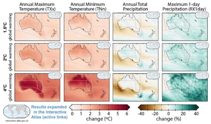 Previsión del IPCC AR6 Australia