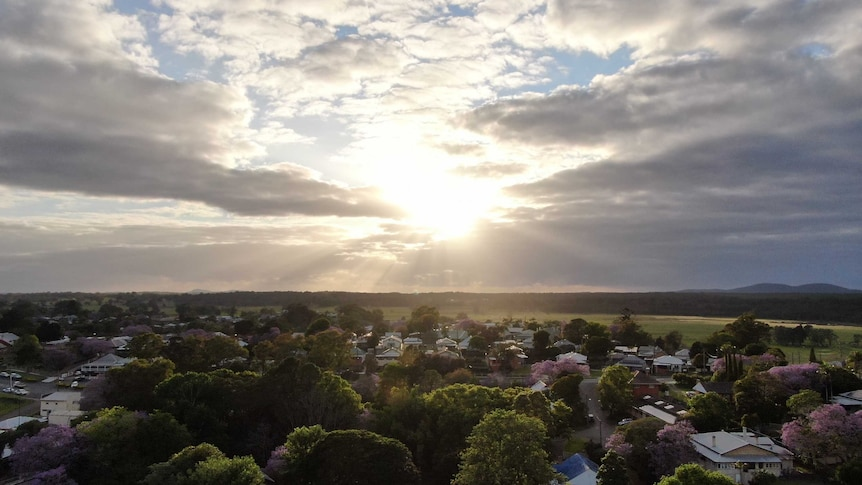 Sunrise over Kempsey in NSW