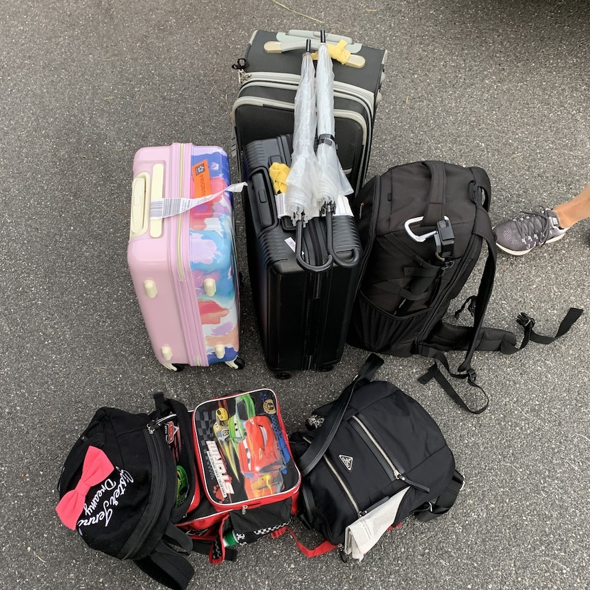 The luggage the Stuart family is travelling with