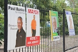 Posters from the 2012 Palmerston Council election