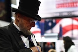 An Abraham Lincoln lookalike at the Republican convention