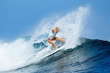 Bethany Hamilton surfing in the Fiji Pro