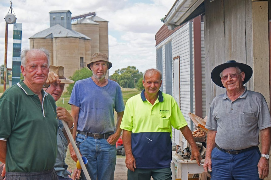 Members of Grenfell Mens Shed