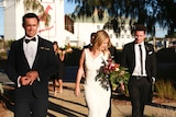 Mikki Cusack and her husband getting married.