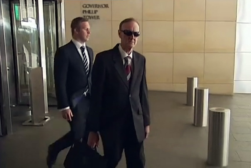 Detective Inspector Rick Cunningham (wearing sunglasses) began investigating allegations of abuse at the Bexley home more than a decade after it had closed down.