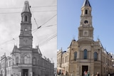 Fremantle town hall 1928 and 2017