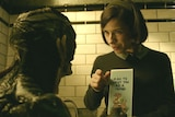 Doug Jones and Sally Hawkins in a scene from The Shape of Water