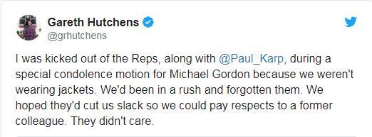 A screenshot of a tweet by Guardian economics and politics correspondent Gareth Hutchens
