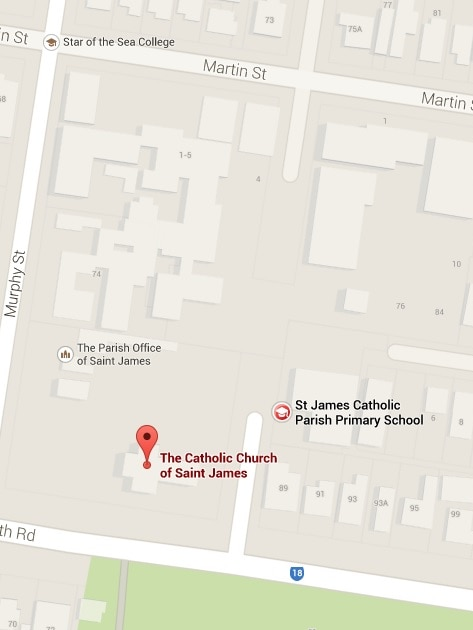 St James Church is located next to two schools.