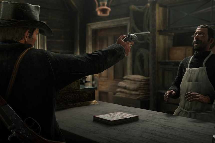 A scene from Red Dead Redemption 2