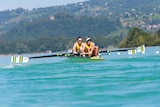 Australian rower Alexander Hill in action at the World Championships in 2015.