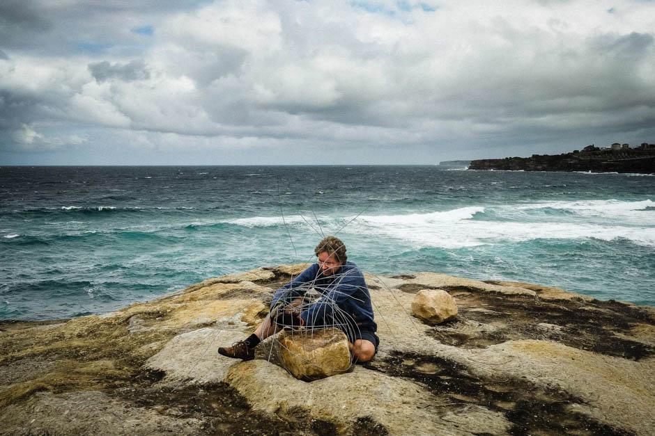 Gregor Stahlgren installs 'Stone Baskets'