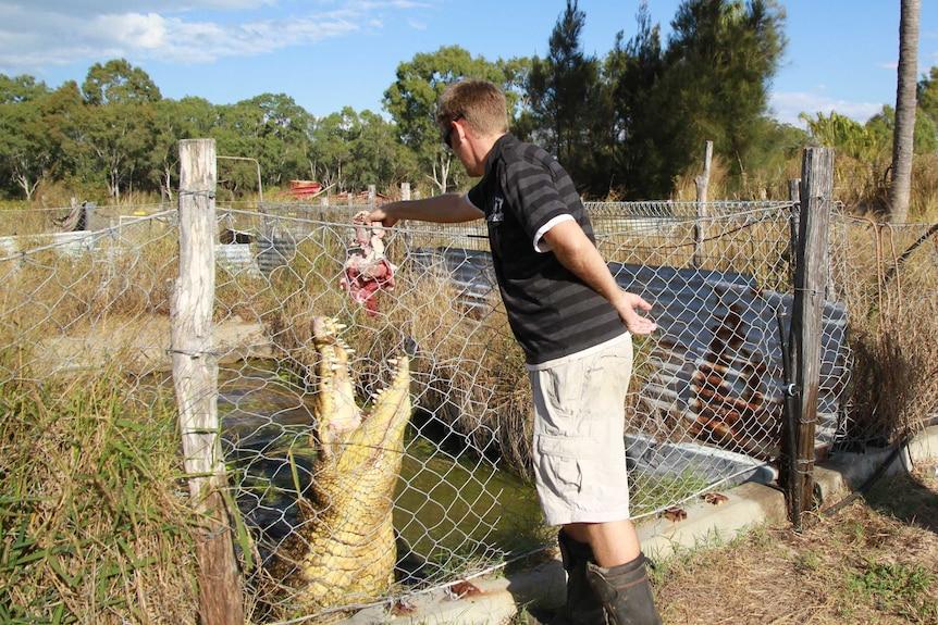 Adam Lever feeds Ziggy