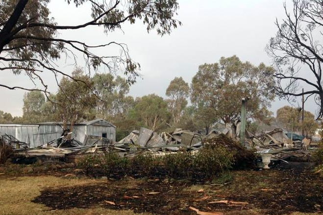 Destroyed house at Moyston, Victoria