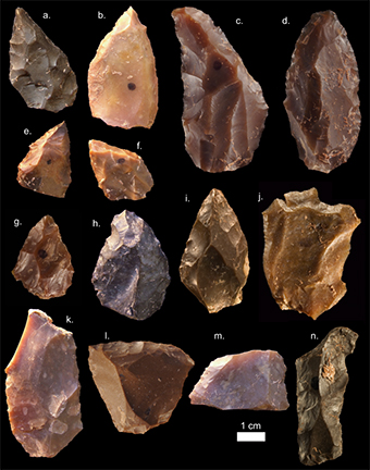 Some of the Middle Age stone tools from Jebel Irhoud